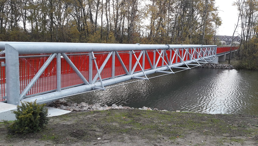 Red footbridge Staco Polska