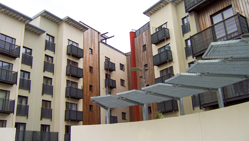 Sunshade gratings for Le Coie apartments